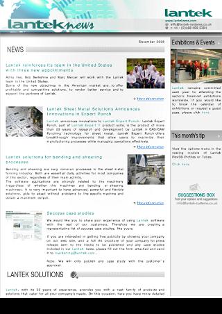 Lantek News Herbst 2009