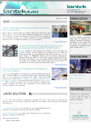 Lantek News September 2009