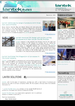 Lantek News 2009년 9월