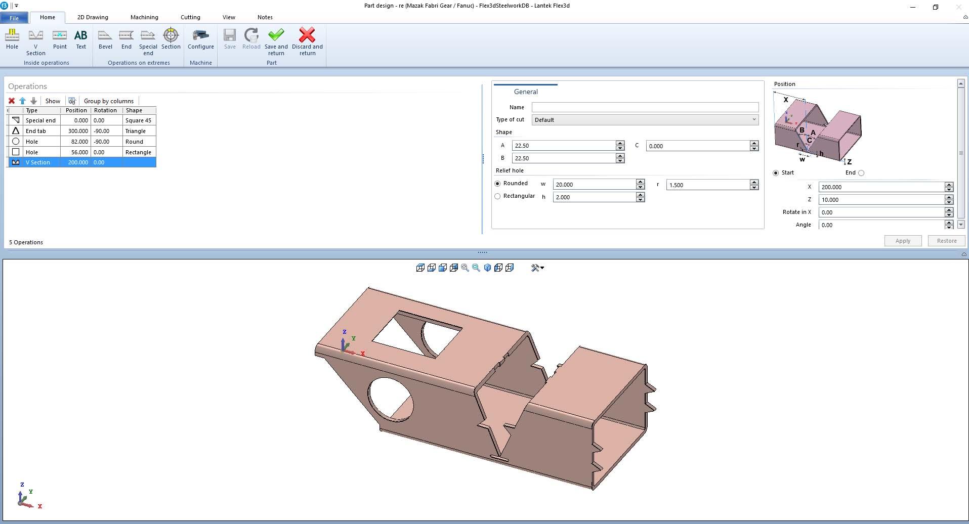 Lantek Flex3d Steelwork  - Pièces d'importation