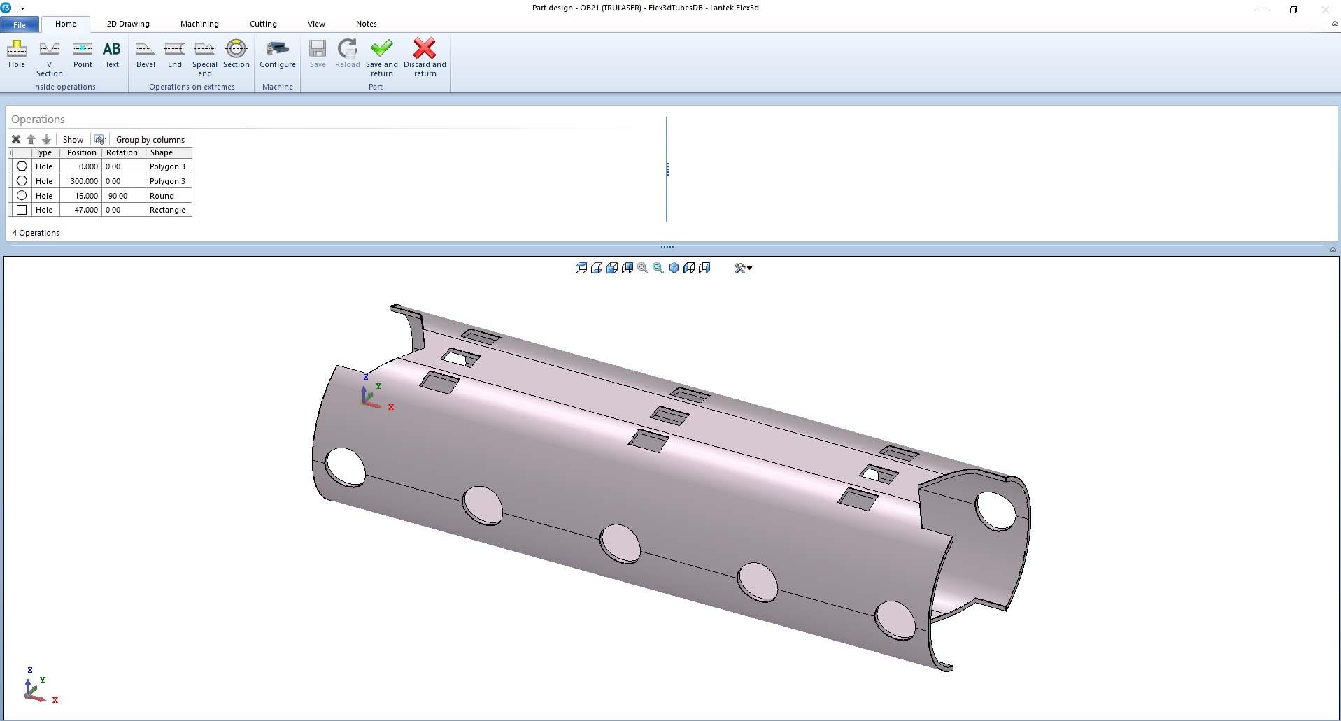 Lantek Flex3d Tubes  - Projekt części