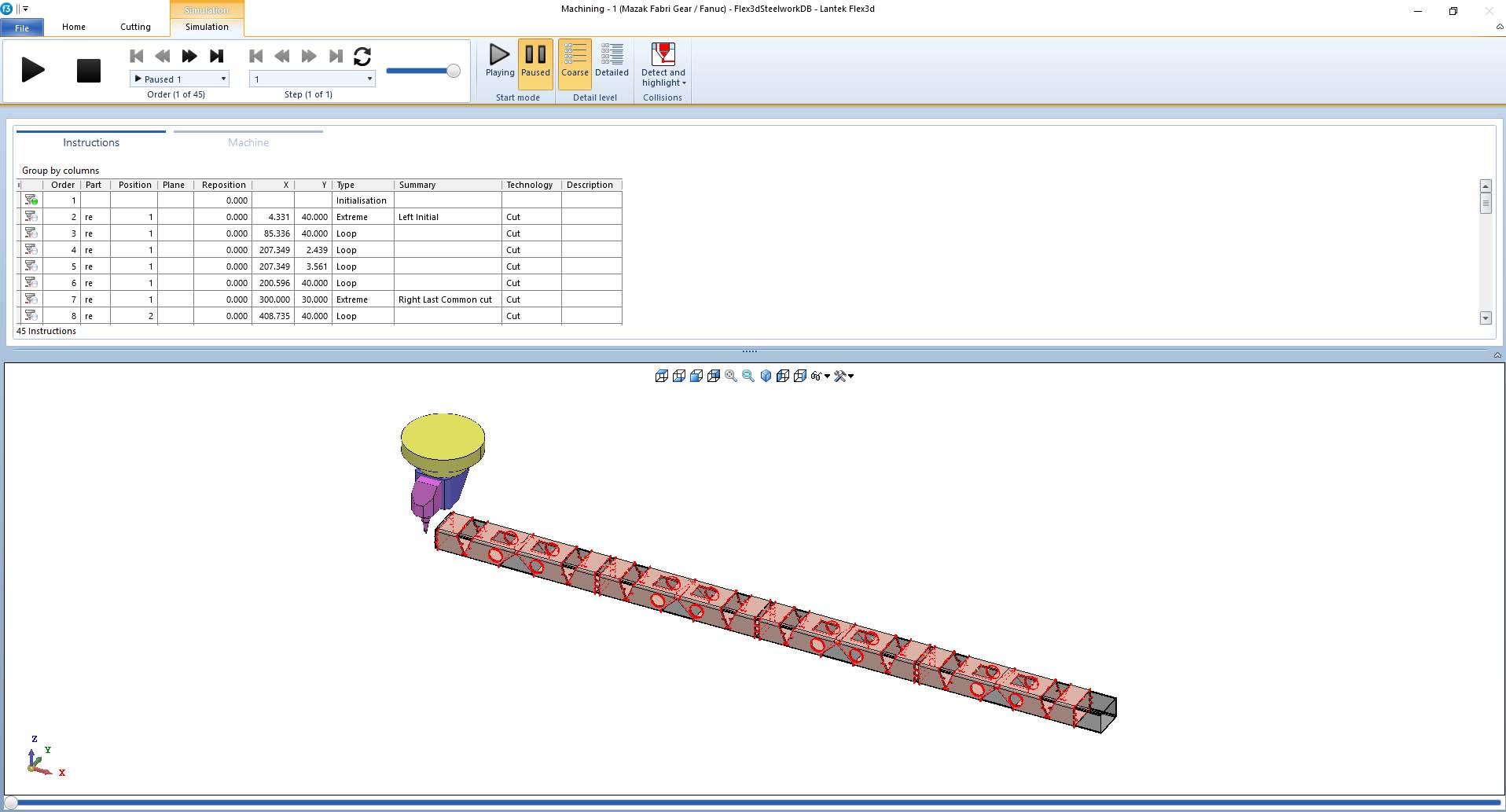 Lantek Flex3d Steelwork  - 模拟