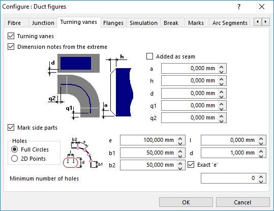 Lantek Expert Duct  - 配置转动叶片