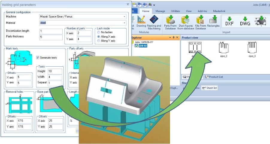 Automatic fixtures calculation