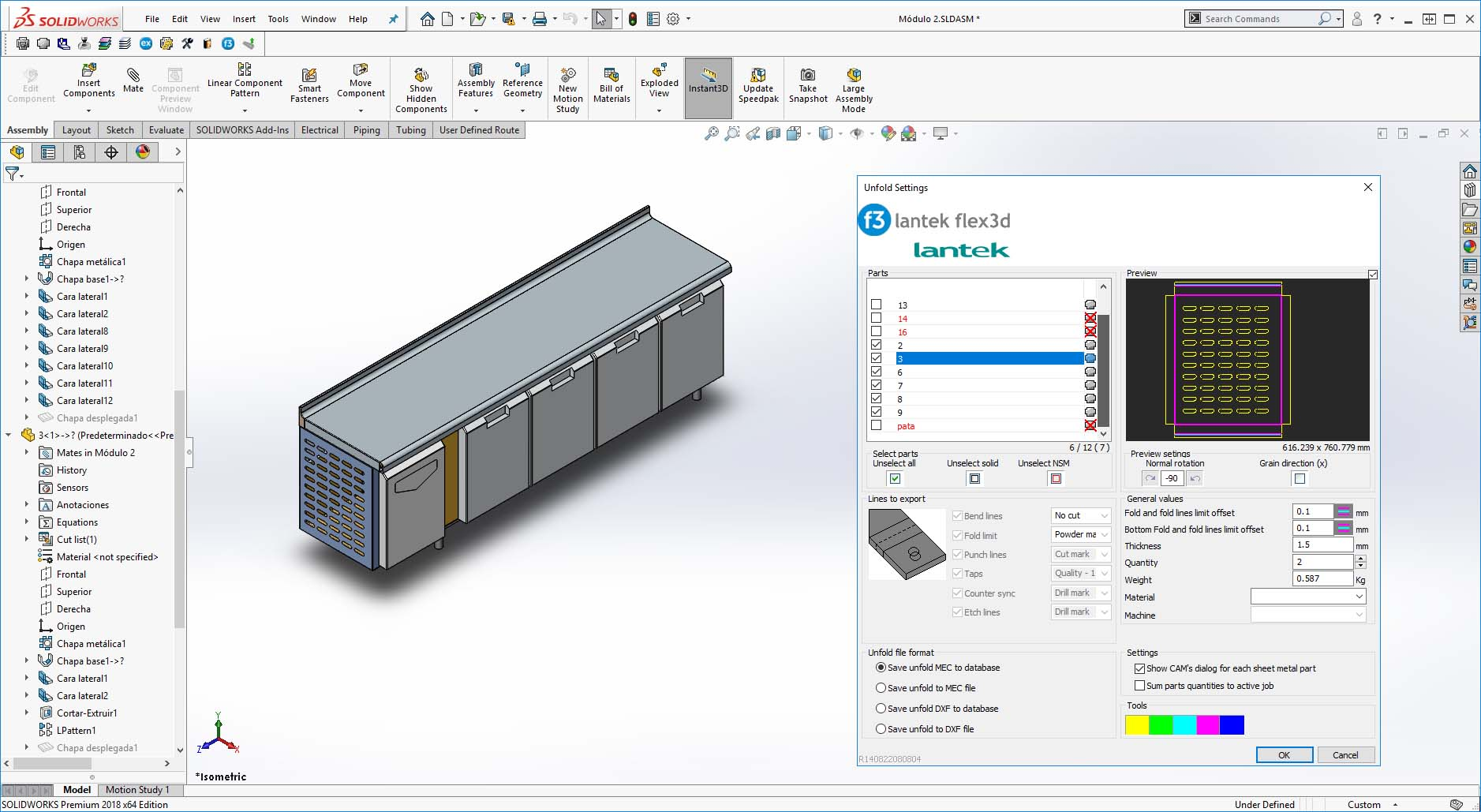 Lantek Flex3d Addins  - SOLIDWORKS