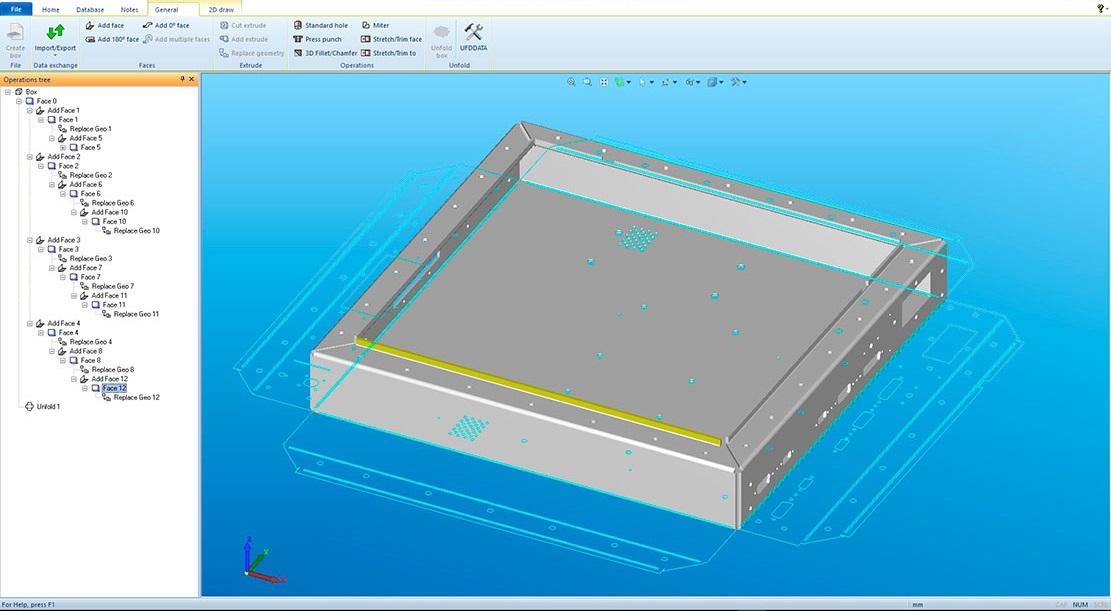Lantek Flex3d Unfolding  - Folding operations