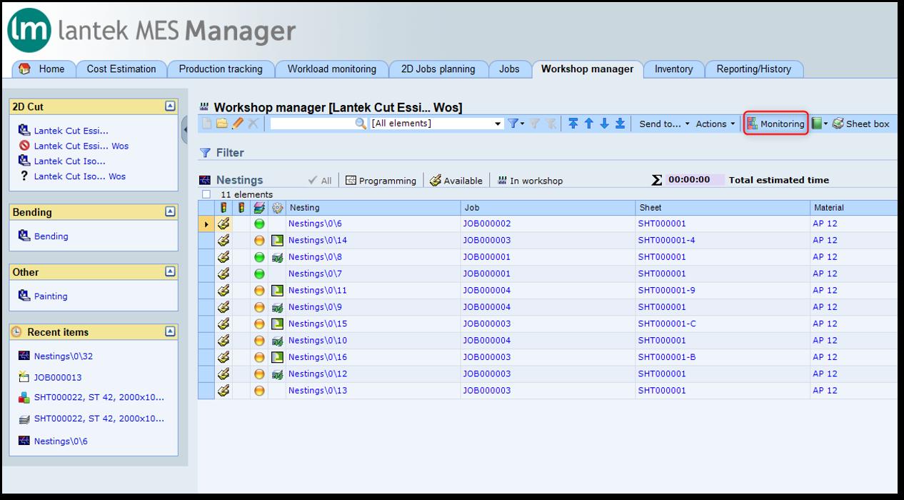 Lantek Manager  - Workshop management