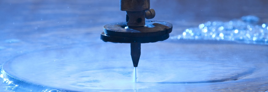 Water Jet machine head cutting metal